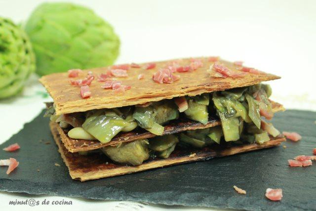 milhojas-de-alcachofa
