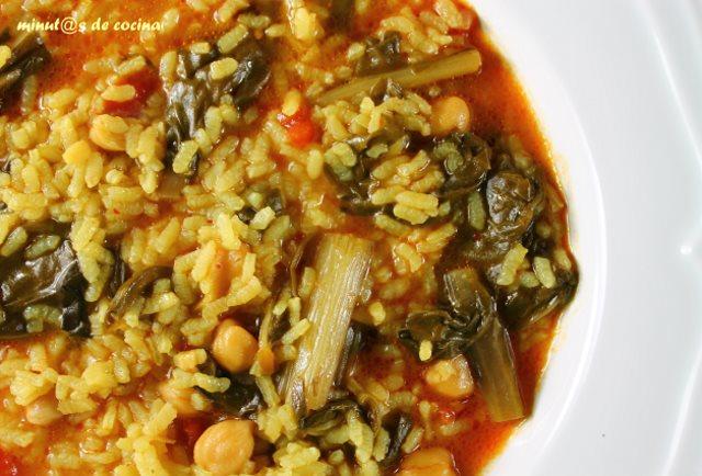arroz caldoso con acelgas