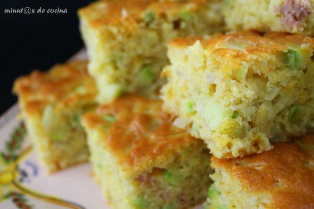 pastel de calabacín y atún