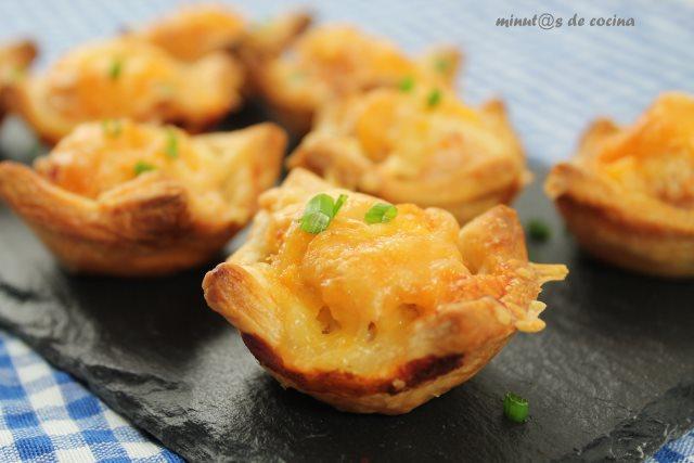 mini tartaletas de hojaldre con pollo