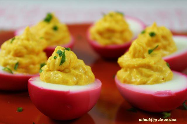 huevos rellenos con mayonesa