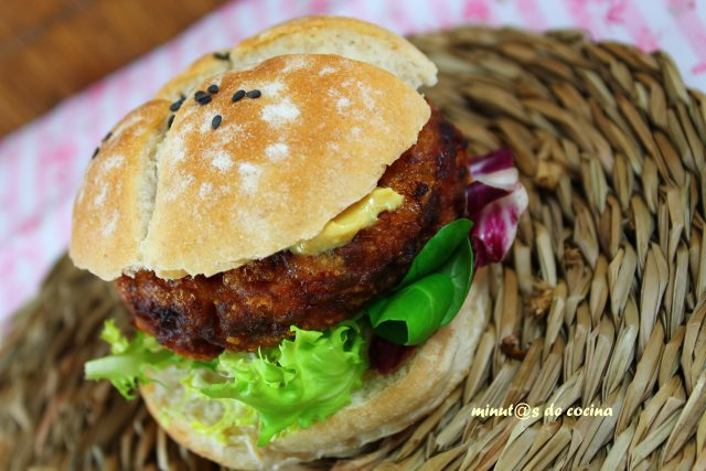 hamburguesa de bacalao y gambas