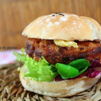 hamburguesa de bacalao